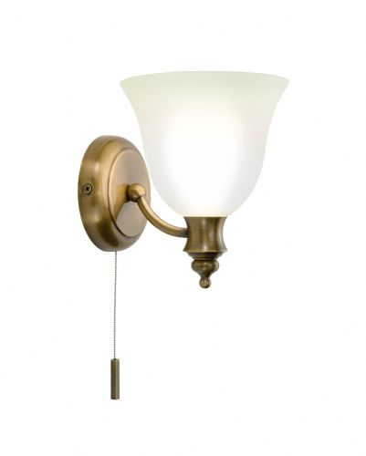 Oboe 1-light Antique Brass IP44 Double Insulated Wall Light (Class 2 Double Insulated) BXOBO0775-17